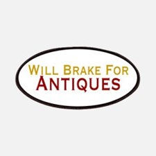 Will Brake For Antiques Patches