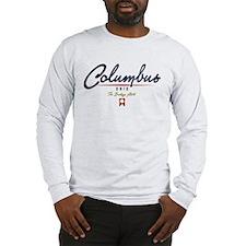 Columbus Script Long Sleeve T-Shirt