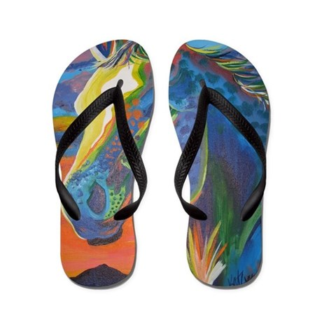 Appaloosa Painting Flip Flops By Appytrails