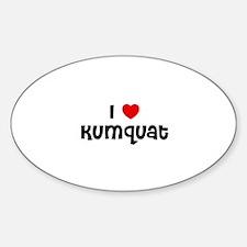 I * Kumquat Oval Decal