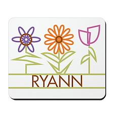 Ryann with cute flowers Mousepad