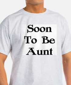 Soon To Be Aunt Ash Grey T-Shirt