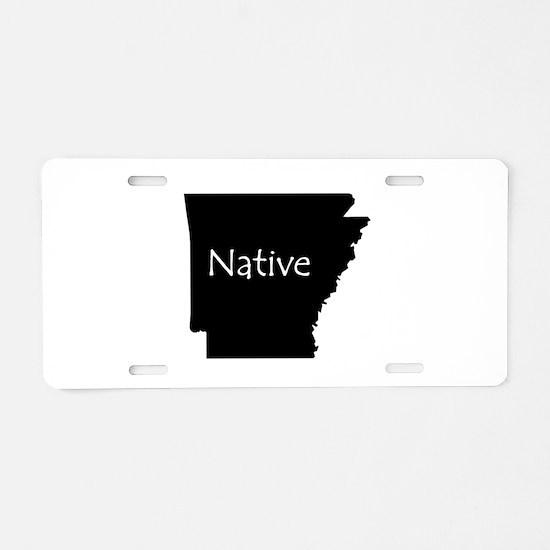 Arkansas Native Aluminum License Plate