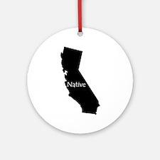 California Native Ornament (Round)