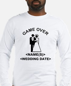Game Over (Names and Wedding Date) Long Sleeve T-S
