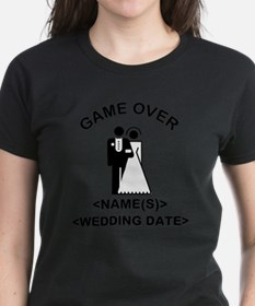 Game Over (Names and Wedding Date) Tee