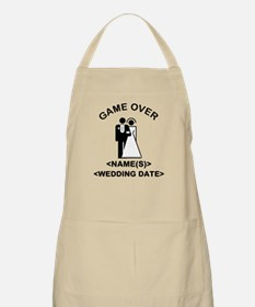 Game Over (Names and Wedding Date) Apron