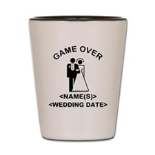 Game Over (Names and Wedding Date) Shot Glass
