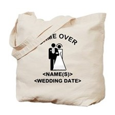 Game Over (Names and Wedding Date) Tote Bag