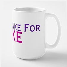 Will Brake For Cake Large Mug