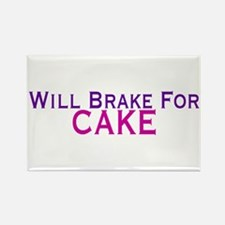 Will Brake For Cake Rectangle Magnet