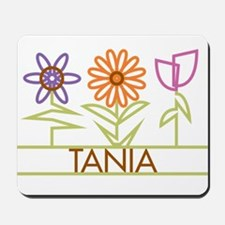 Tania with cute flowers Mousepad
