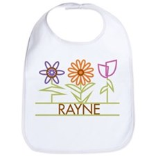 Rayne with cute flowers Bib