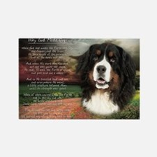 """""""Why God Made Dogs"""" Bernese Rectangle Magnet"""