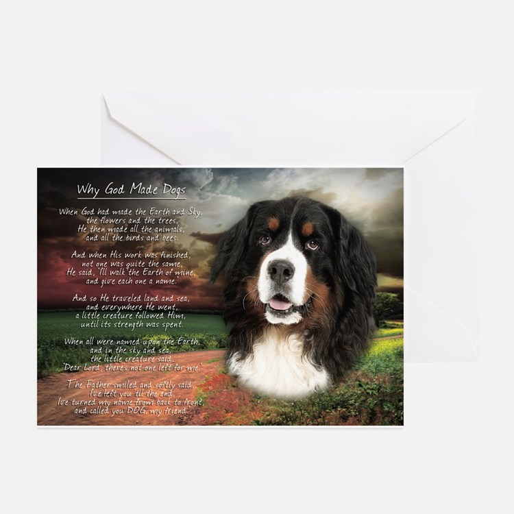 """""""Why God Made Dogs"""" Bernese Greeting Cards (Pk of"""