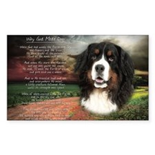 """Why God Made Dogs"" Bernese Decal"