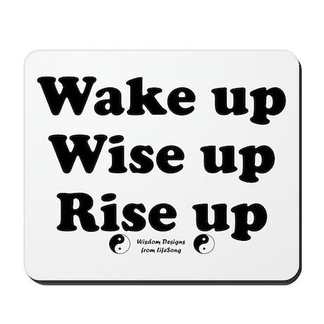 Wake Up 2 Mousepad