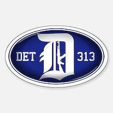 Detroit 313 - Sticker (Oval)