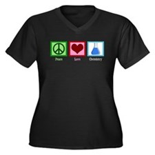 Peace Love Chemistry Women's Plus Size V-Neck Dark