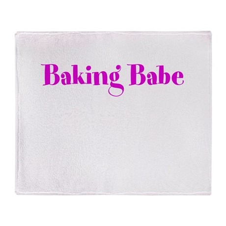Baking Babe Throw Blanket