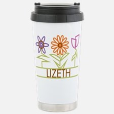 Lizeth with cute flowers Stainless Steel Travel Mu
