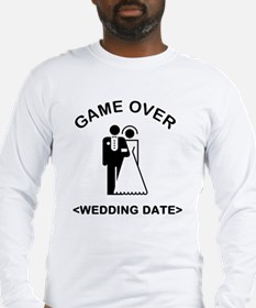 Game Over (Type In Your Wedding Date) Long Sleeve