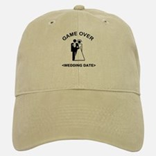 Game Over (Type In Your Wedding Date) Baseball Baseball Cap