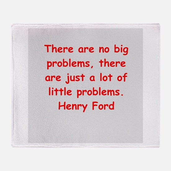 Henry Ford quotes Throw Blanket