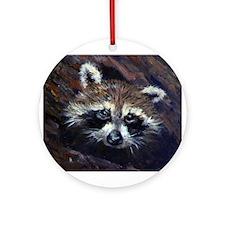 Peek-A-Boo Raccoon Ornament (Round)