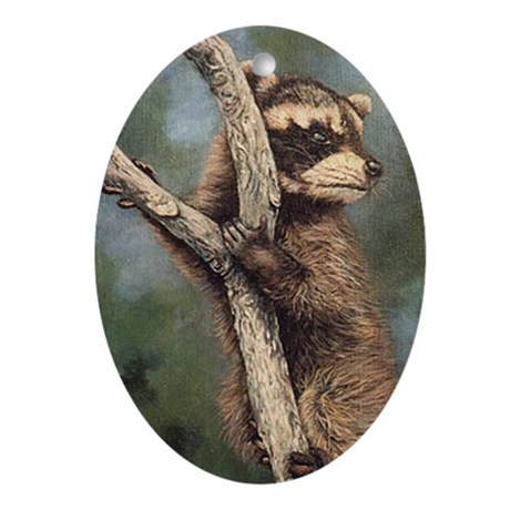 Raccoon Oval Ornament