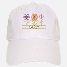 Karly with cute flowers Baseball Baseball Cap