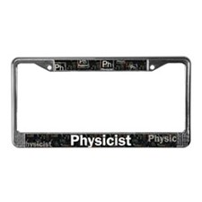 Physicist Retro License Plate Frame