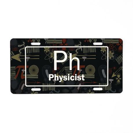 Physicist Retro Aluminum License Plate