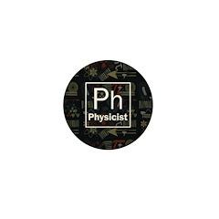 Physicist Retro Mini Button (10 pack)