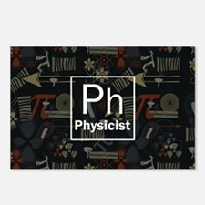 Physicist Retro Postcards (Package of 8)