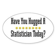 Hugged Statistician Oval Decal