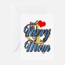 USN Proud Navy Mom Greeting Cards (Pk of 10)