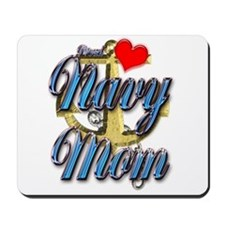 USN Proud Navy Mom Mousepad
