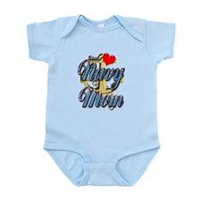 USN Proud Navy Mom Infant Bodysuit