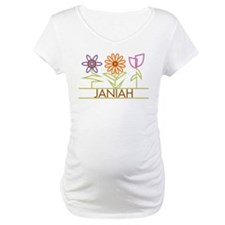 Janiah with cute flowers Shirt