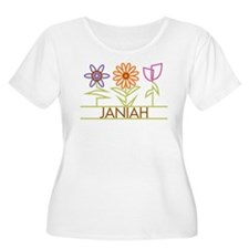 Janiah with cute flowers T-Shirt