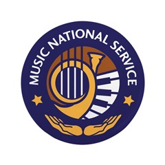 """Center for Music National Service 3.5"""" Button"""