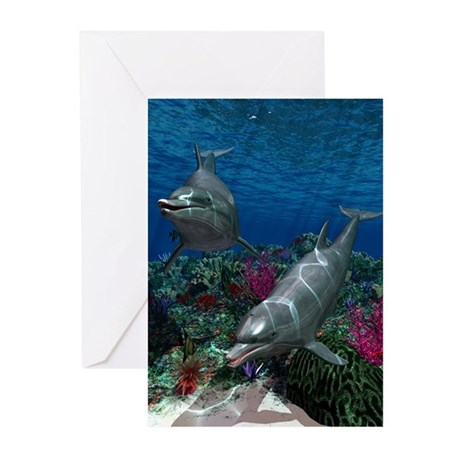 Dolphins Greeting Cards (Pk of 10)