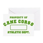 Cane Corso Athletic Dept Greeting Cards (Pk of 10)
