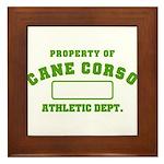 Cane Corso Athletic Dept Framed Tile