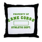 Cane Corso Athletic Dept Throw Pillow