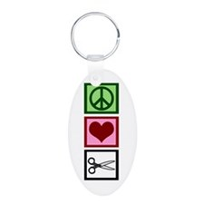 Peace Love Cut Keychains