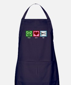 Peace Love Cut Apron (dark)