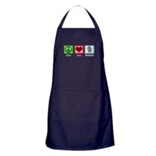 Peace Love Forensics Apron (dark)