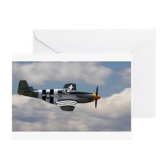 P 51 Mustang Greeting Cards (Pk of 10)